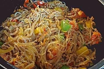 Photo of Minced meat pan with glass noodles – recipe