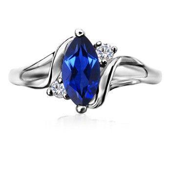 Angara Marquise Sapphire Ring in White Gold rReHU7VcCs