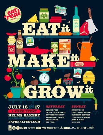 Beautiful poster for one of my favorite Bay Area events. Eat Real!