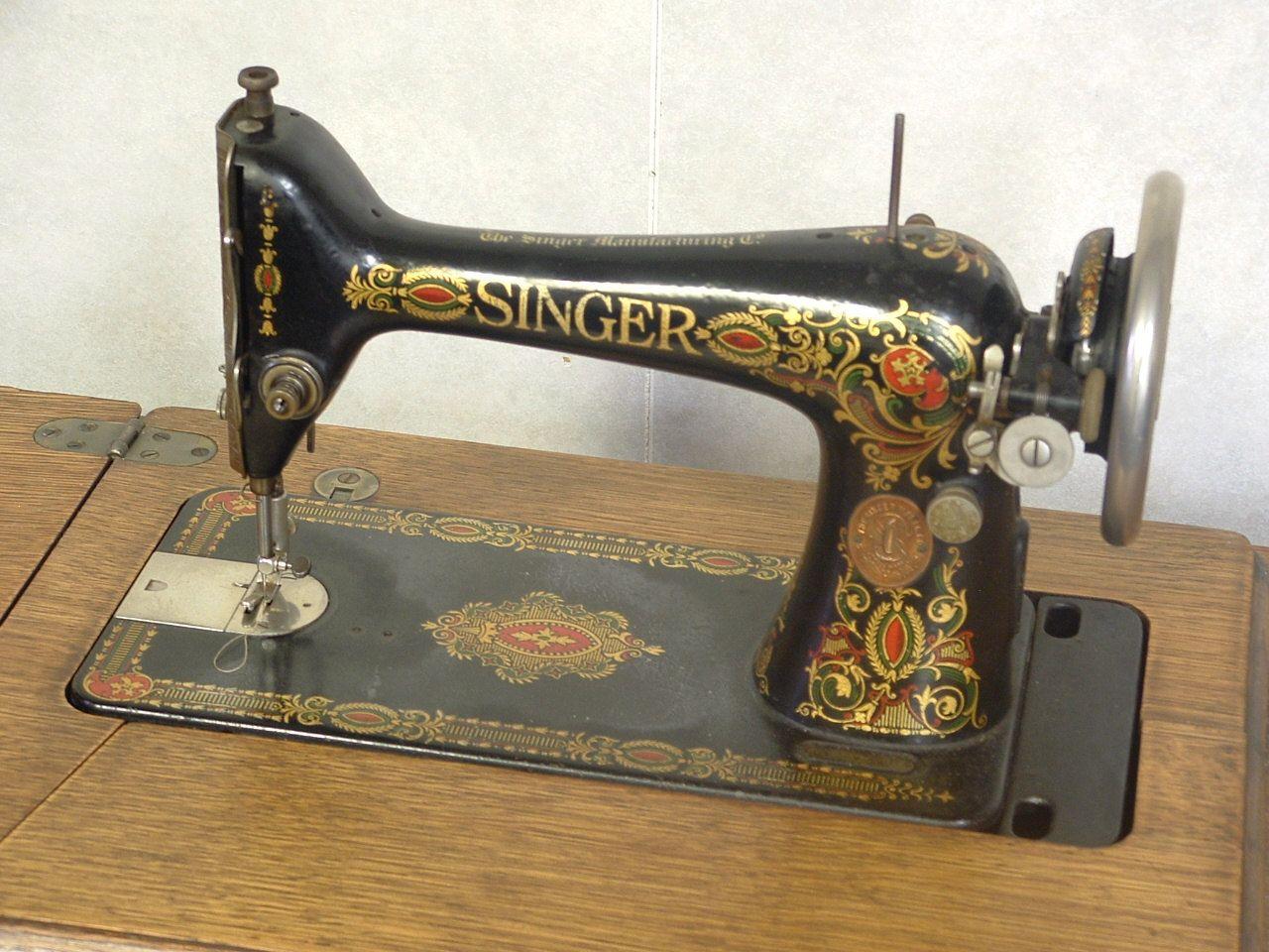 Vintage 1910 era Singer treadle sewing machine by ...