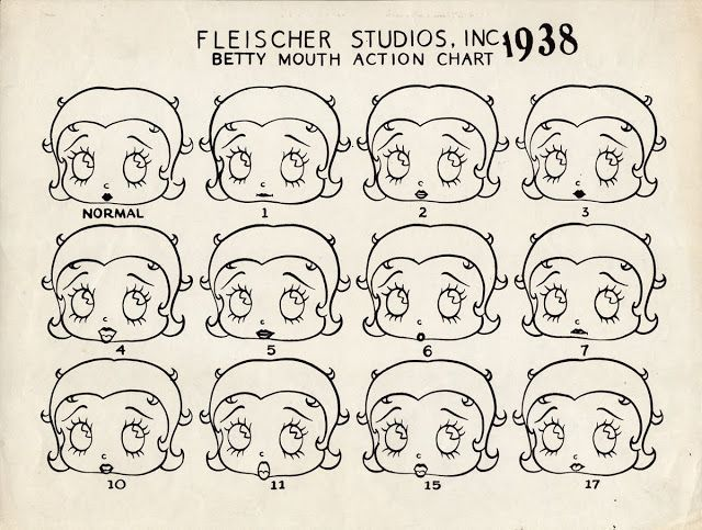 Betty Boop--many faces
