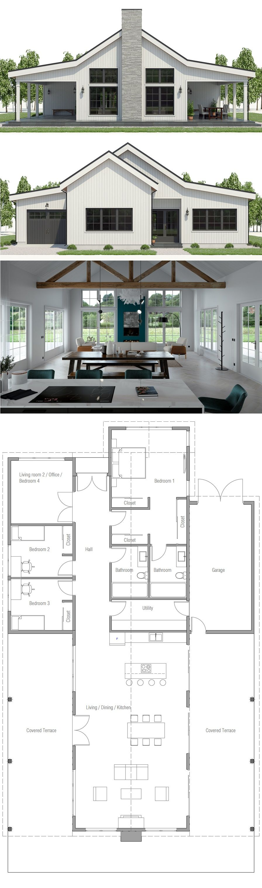 Small House Plans Small Home Designs Smallhouseplans New House Plans Dream House Plans Barn House Plans