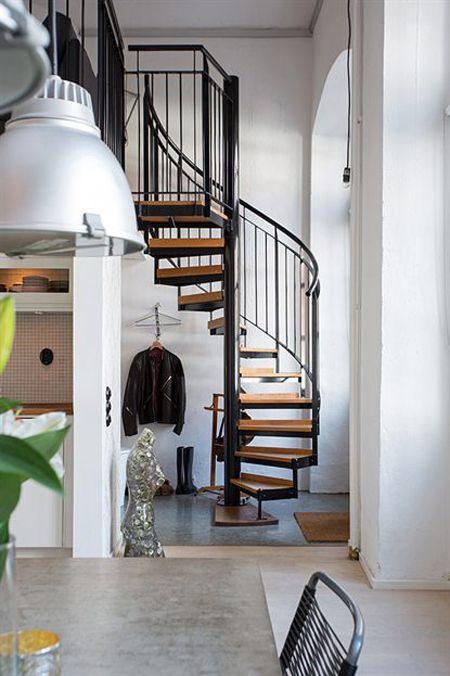 Loft de 67 m de estilo n rdico industrial pinterest for Decoracion loft industrial