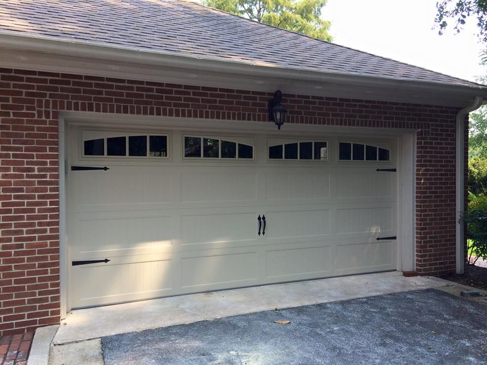 Here Is A Garage Door We Installed On A Home Chi Model 5983 Long Panel Stamped Steel Carriage House Do Garage Door Styles Carriage House Doors Overhead Door