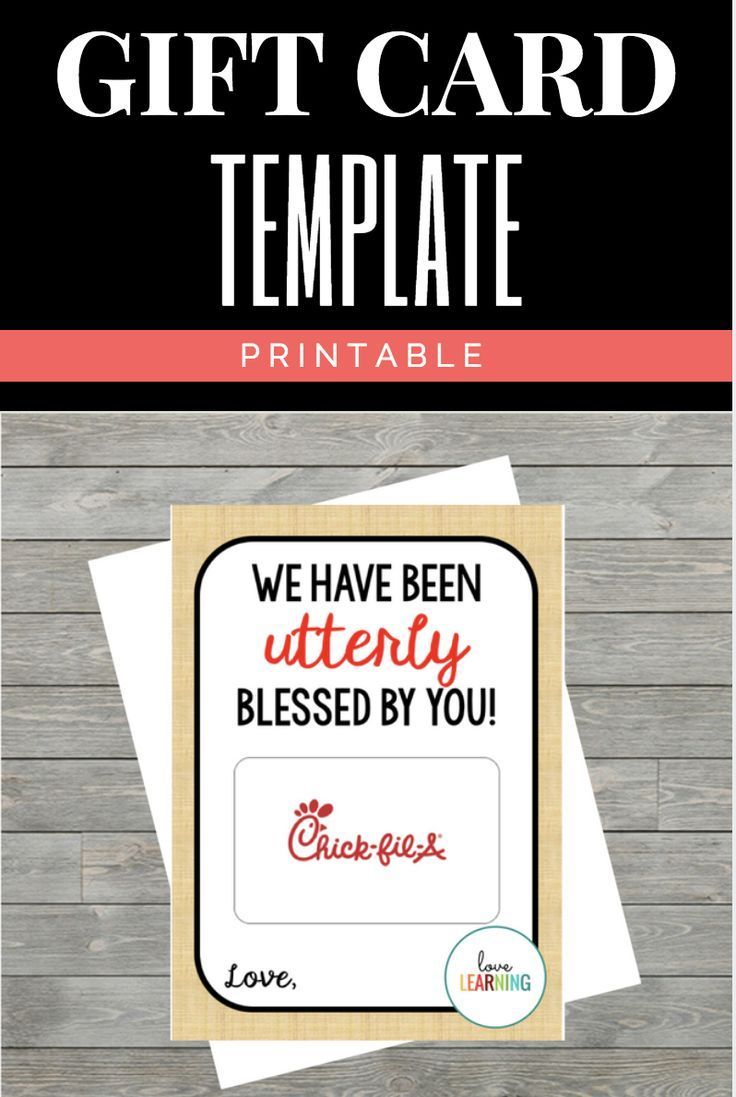 Photo of Chick fil A Gift Card Holder: Instant Download
