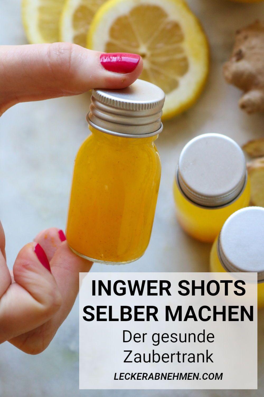 Ingwer Shot selber machen: Unser Rezept mit Kurkuma ist einfach und perfekt für den Winter. Hier findest du das schnelle Ingwer Shot Rezept, das auch beim Abnehmen getrunken werden kann.