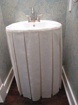 Sink Skirt Using Elastic With Images Bathroom Sink Sink Skirt
