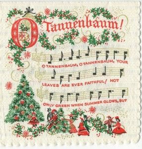 O Christmas Tree In German O Tannenbaum Christmas Sheet Music Christmas Carols Songs Vintage Christmas Cards