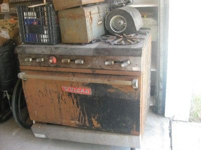 vintage vulcan antique commercial gas stove range local pickup only