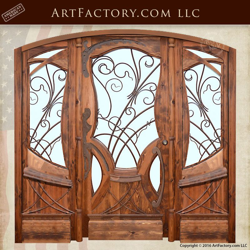 Jules Lavirotte Inspired Custom Fine Art Door By H J Nick Custom Exterior Doors Exterior Door Designs Custom Front Doors