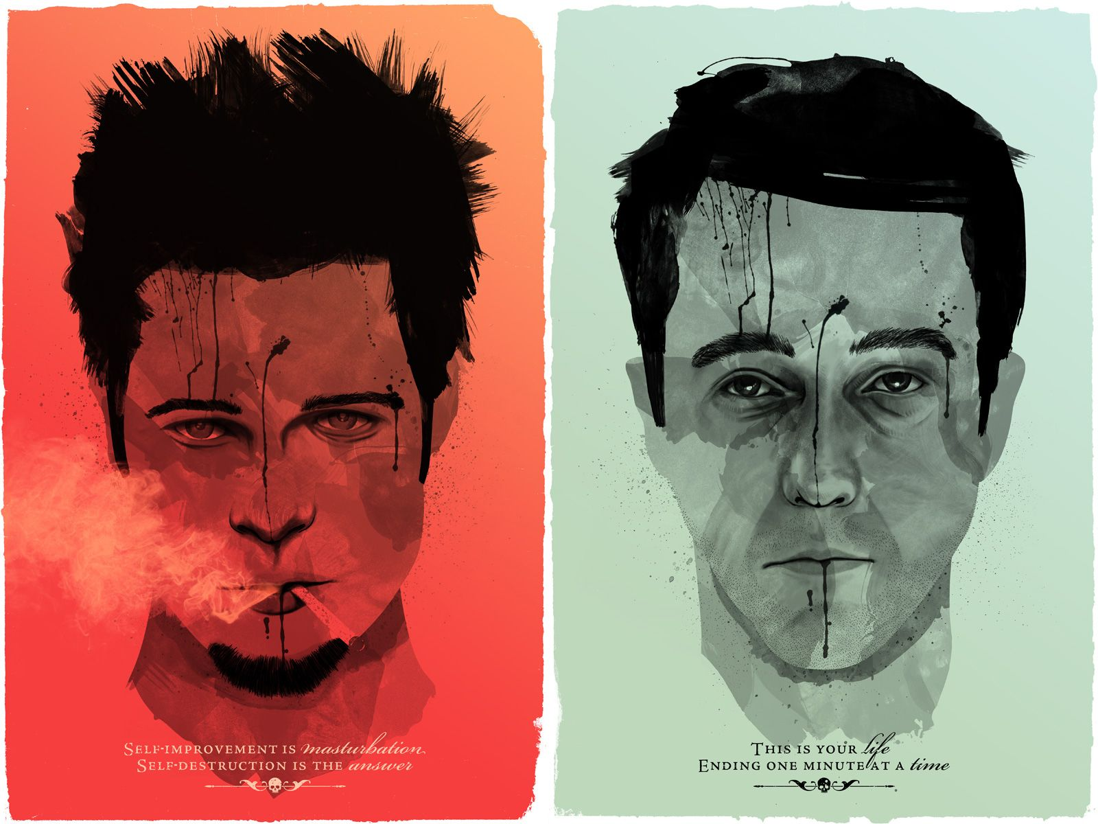 Fight Club This Would Be A Cool Print To Have In A Home Theatre Room Or Maybe The Office Fight Club Poster Movie Art Club Poster Fight club desktop wallpaper hd