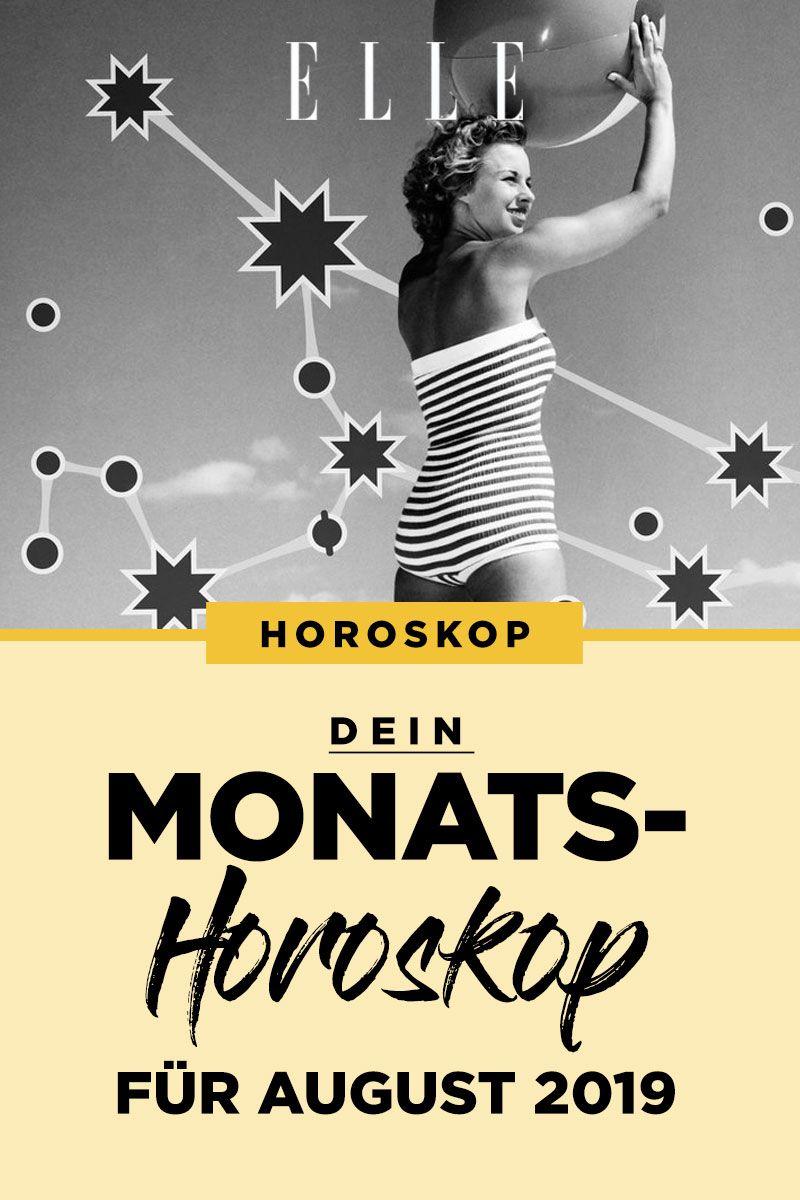 Elle Horoskop So Stehen Deine Sterne Fur Den Monat August Monatshoroskop Horoskop Sternzeichen Horoskop Jahreshoroskop Monatshoroskop
