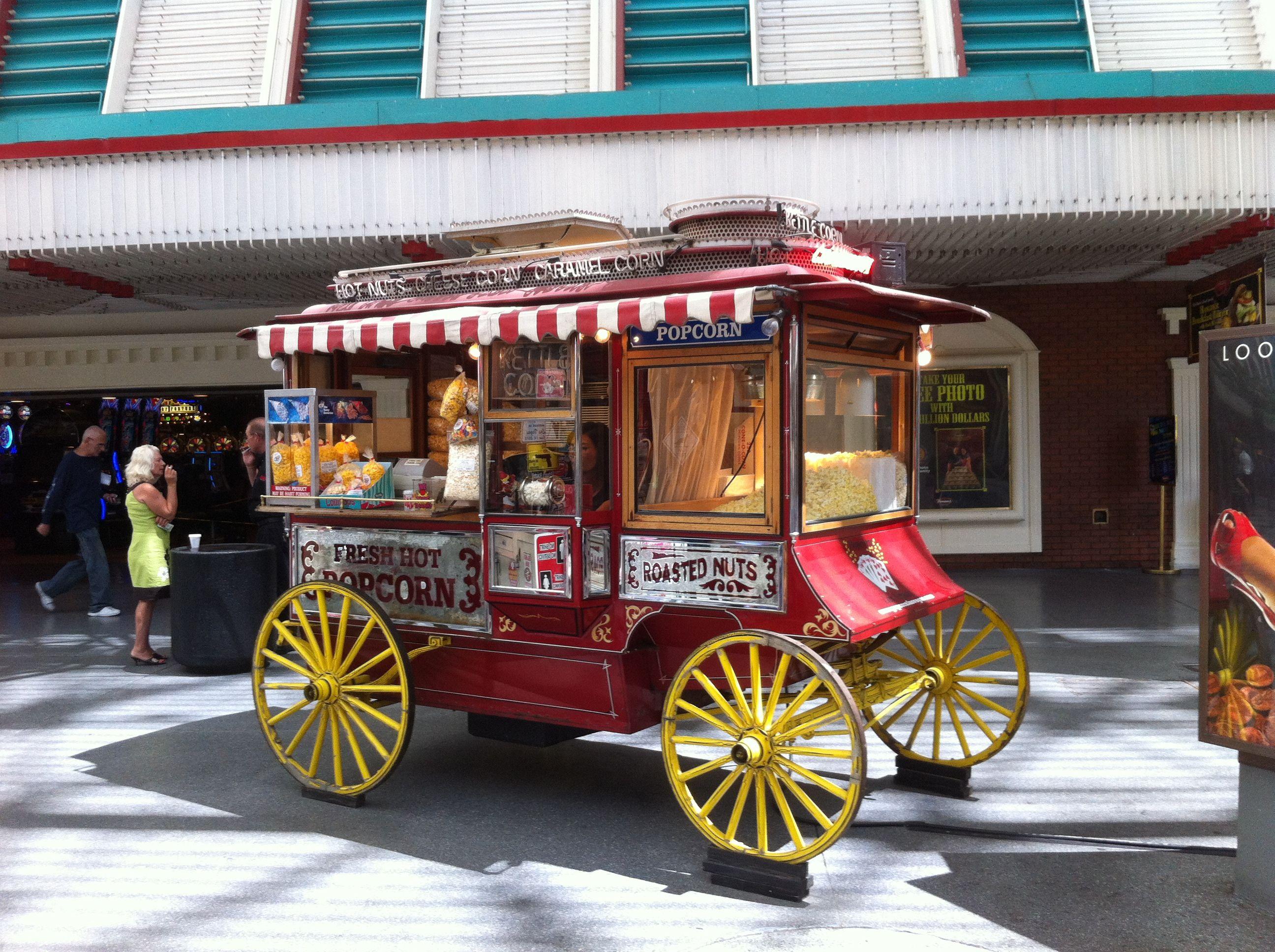 My Favorite Spot   Las Vegas Popcorn Vendor   Fremont Street Photo By: