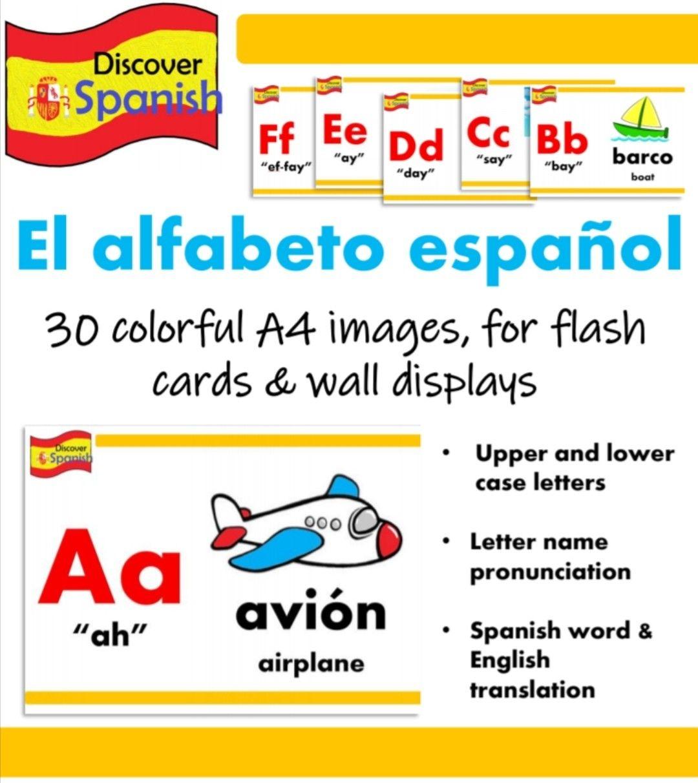 Spanish Alphabet Display (El alfabeto español) in 2020