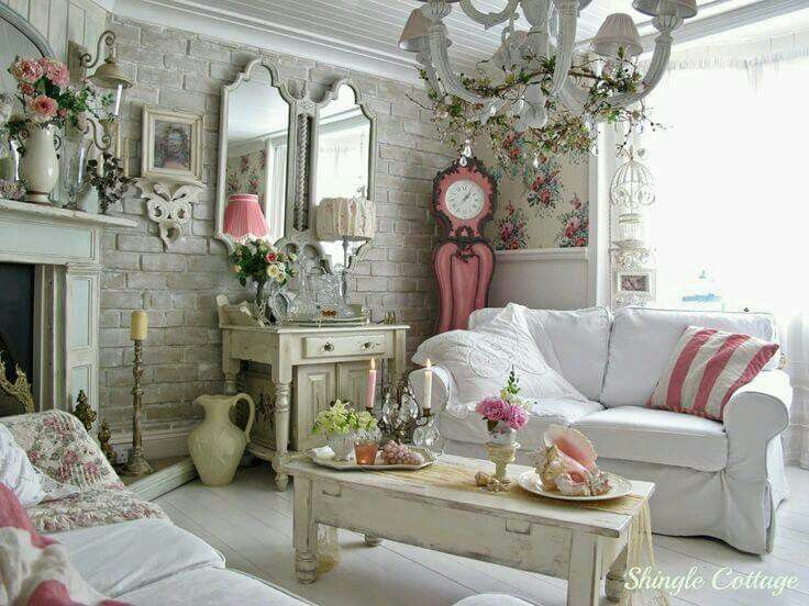 Beautiful living space | Shabby chic decor | Pinterest | Arredamento ...
