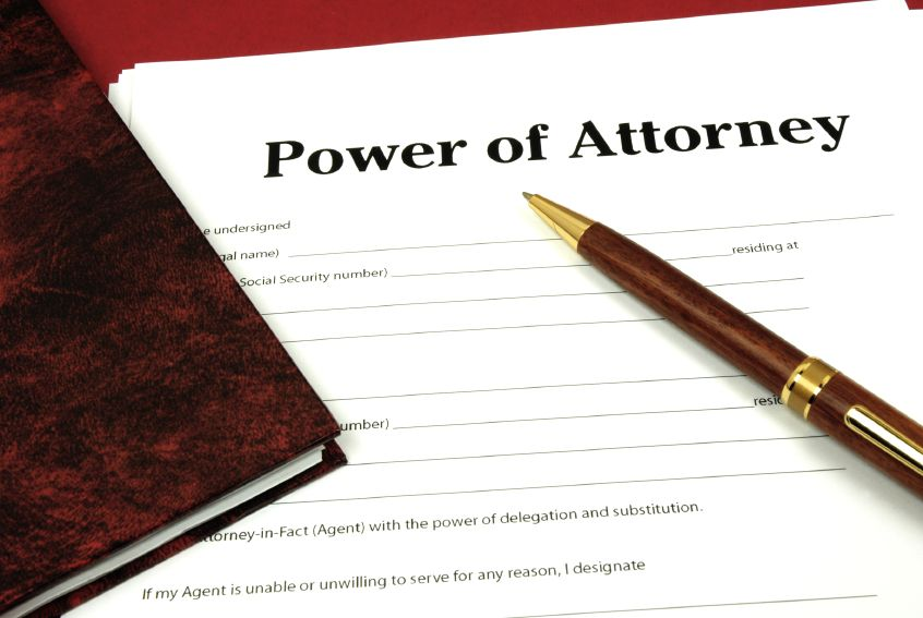 If A Power Of Attorney Is Being Used For The Purchase Then
