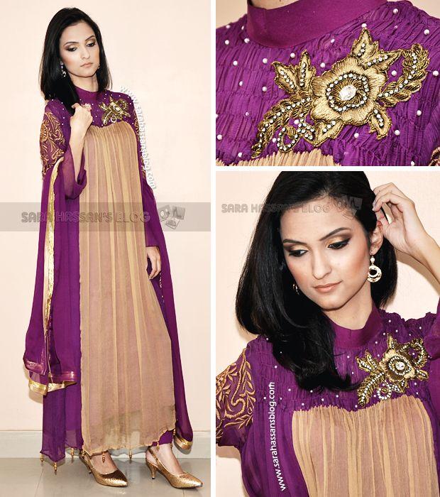 Pakistani dress designer ruby shakeel evening