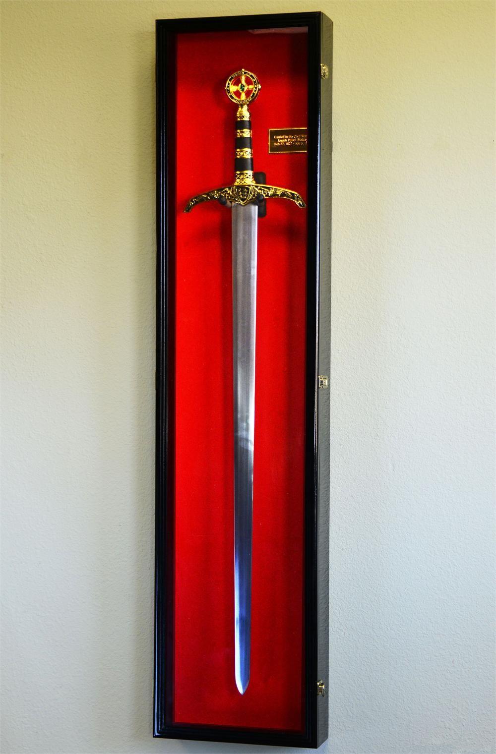 Lockable Sword Display Case Long Sword Display Case