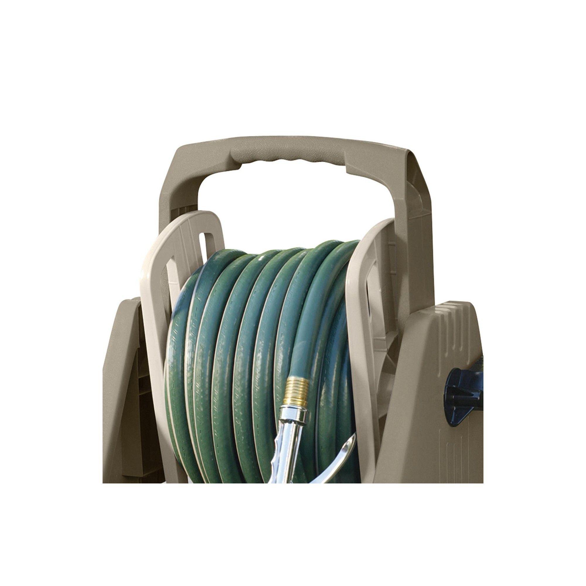 Suncast Hose Handler 100 Foot Portable Tote Or Wall Mountable