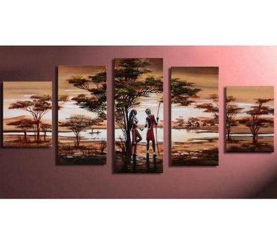 Large canvas art painting for sale buy abstract african woman art hand painted also landscape extra rh pinterest