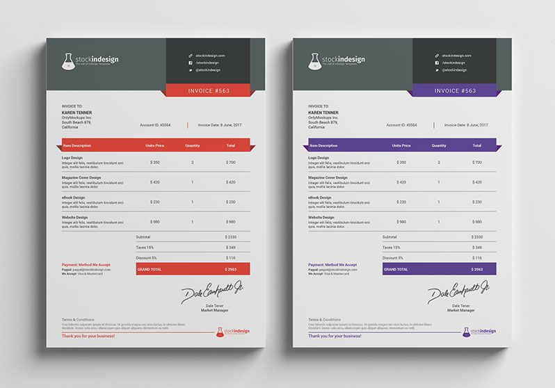 Design Invoice Template piarclanky – Graphic Design Invoice Template