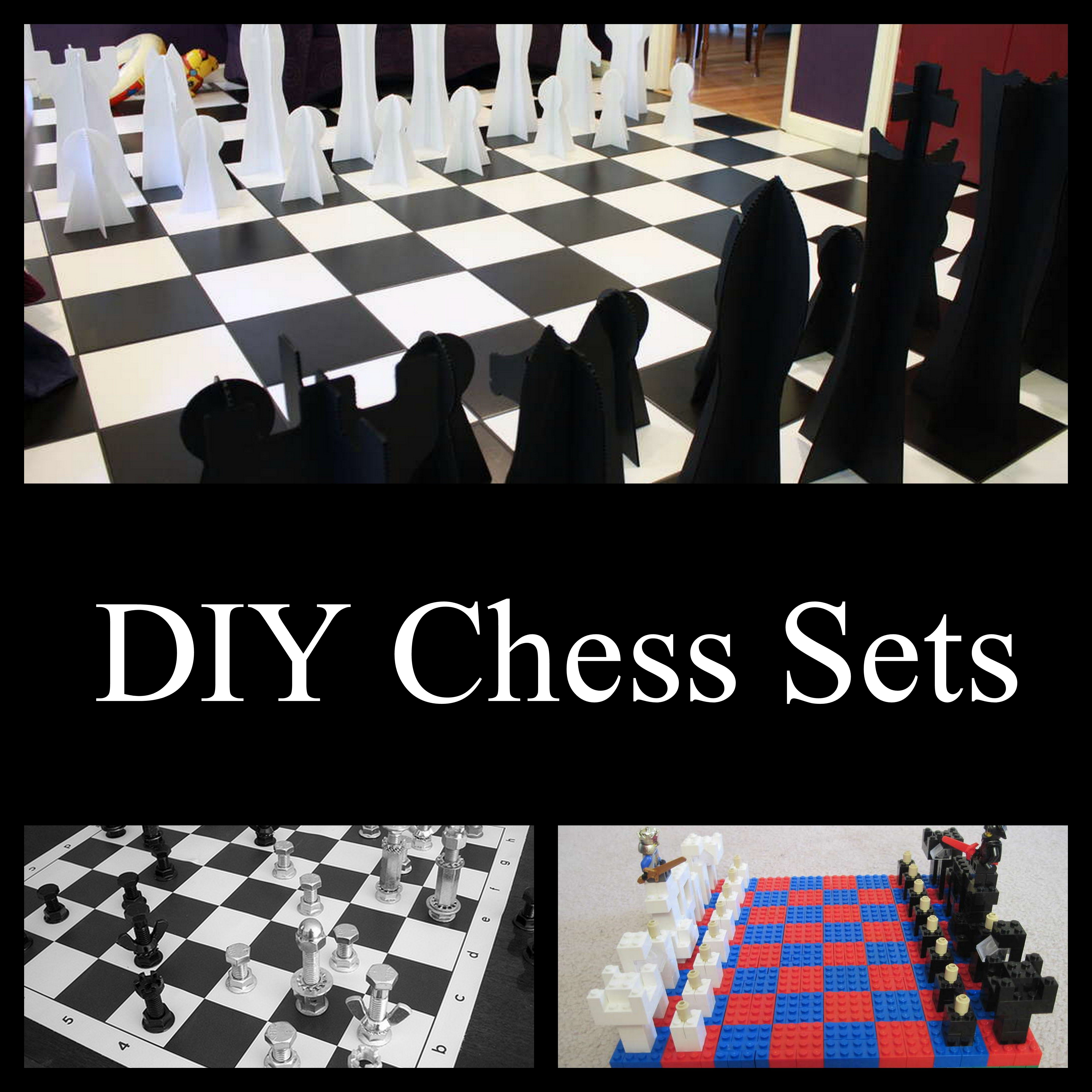 Diy Wood Chess Board Diy Chess Tables And Sets Gifts To Make Pinterest