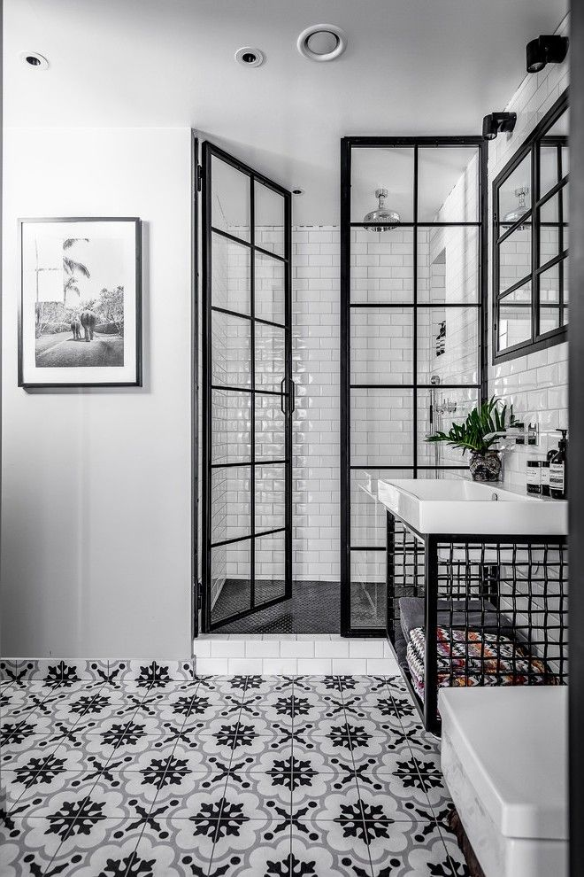Image Result For Bathroom Shower With Black Industrial