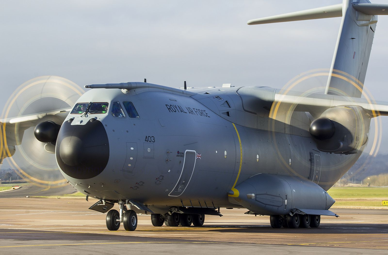 ZM403 Royal Air Force Airbus A400M-180 @ Exeter Airport