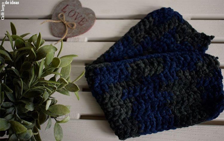 Cuello de punto con flecos   Café largo de ideas - Decoración, reciclaje, DIY, blogging