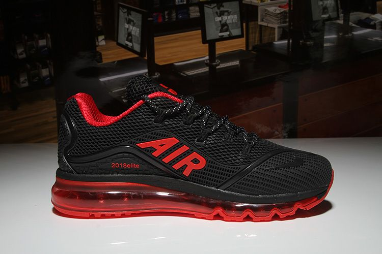 cd8e16b3a43145 Nike Air Max 2018 Black Red Men KPU