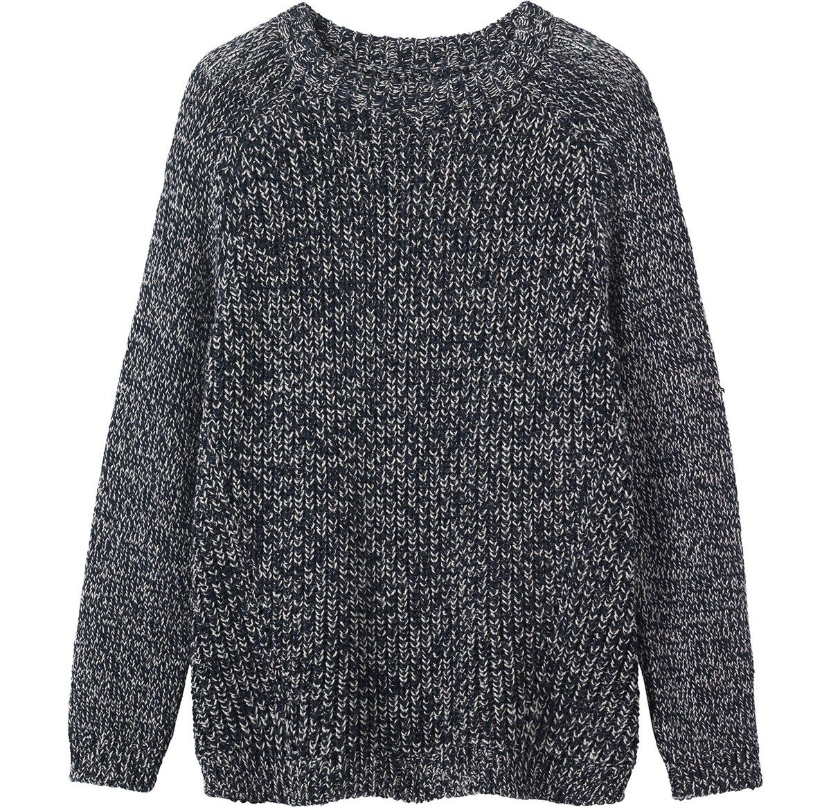 Fisherman's rib pullover, with a two colour twisted yarn, in a ...