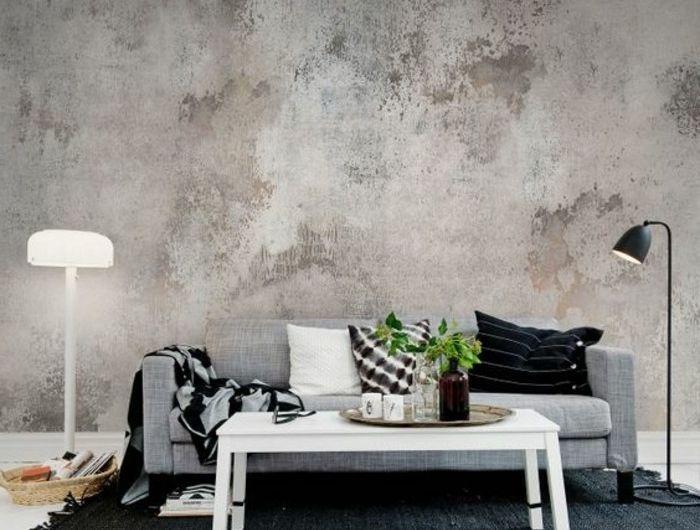 Les papiers peints design en 80 photos magnifiques House - couleur pour salon moderne