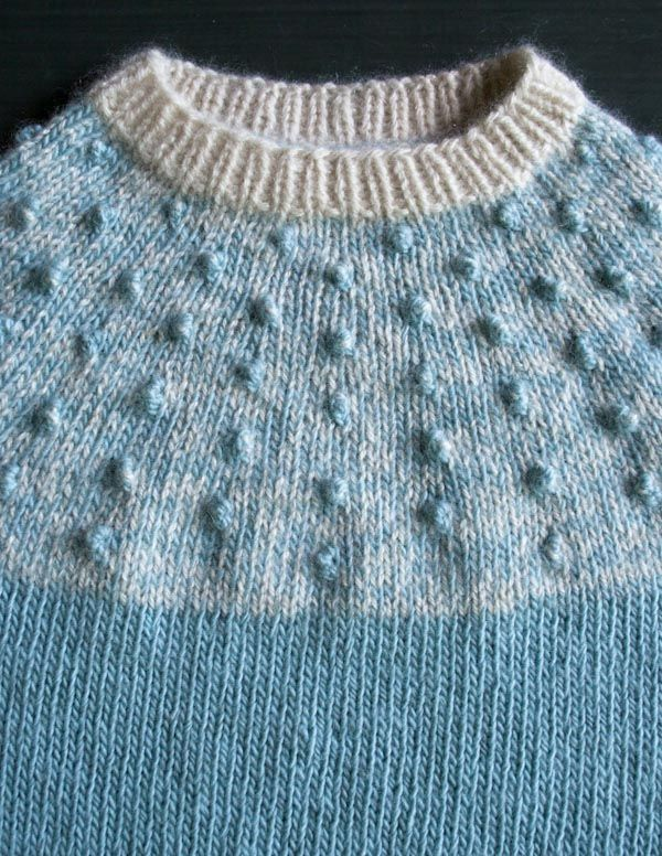 The Purl Bee | Bobble Yoke Sweater for Babies + Toddlers