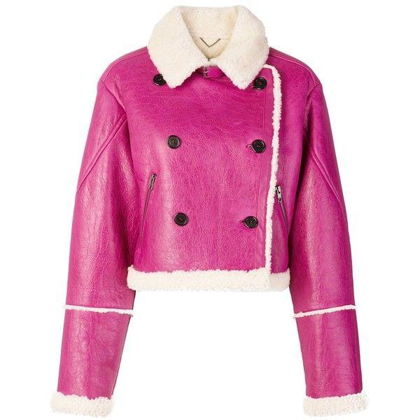 Kenzo Women's Fuchsia Leather Outerwear Jacket (105.905 RUB ...