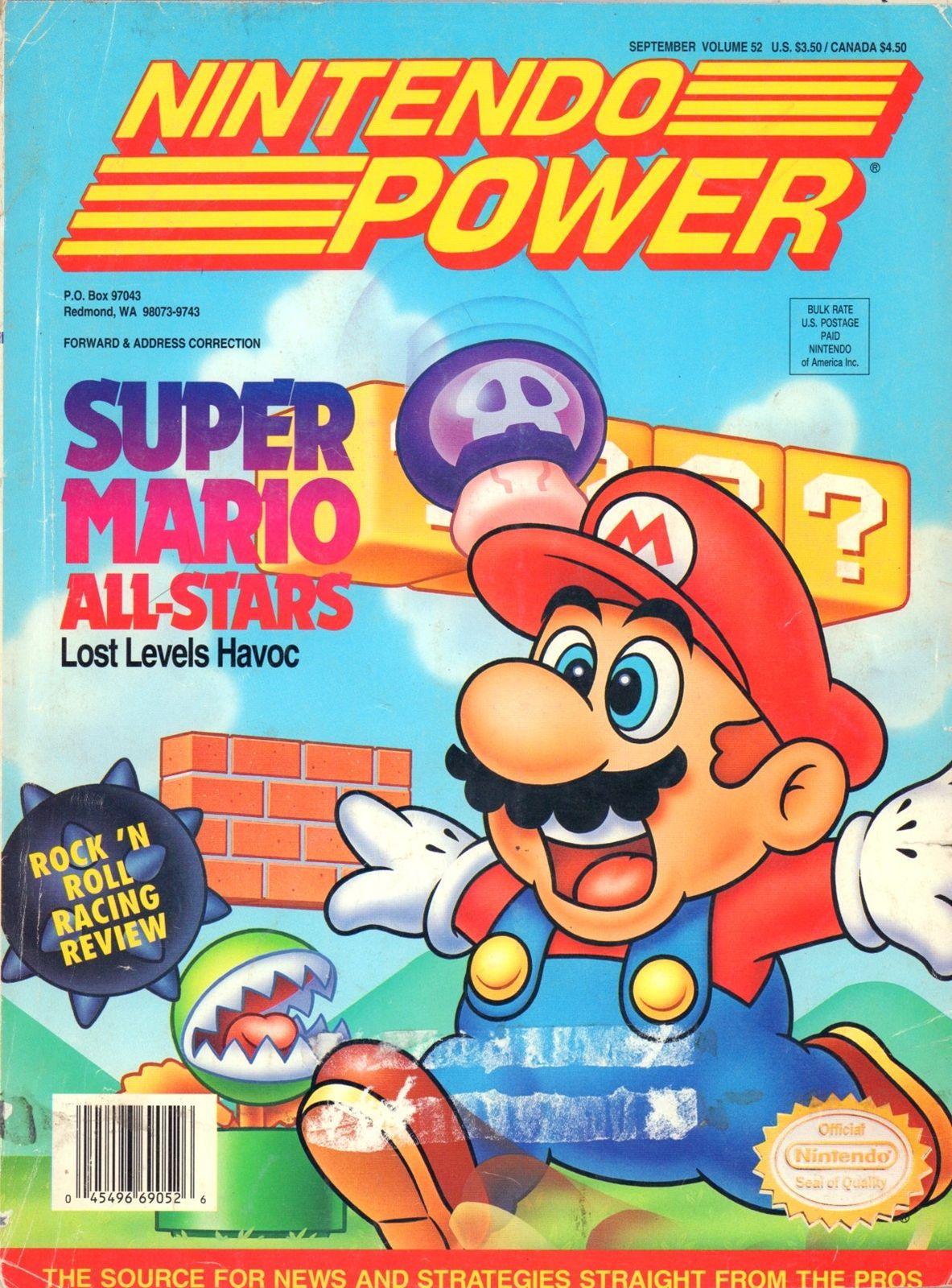 Vintage Nintendo Power magazine for sale Super mario all