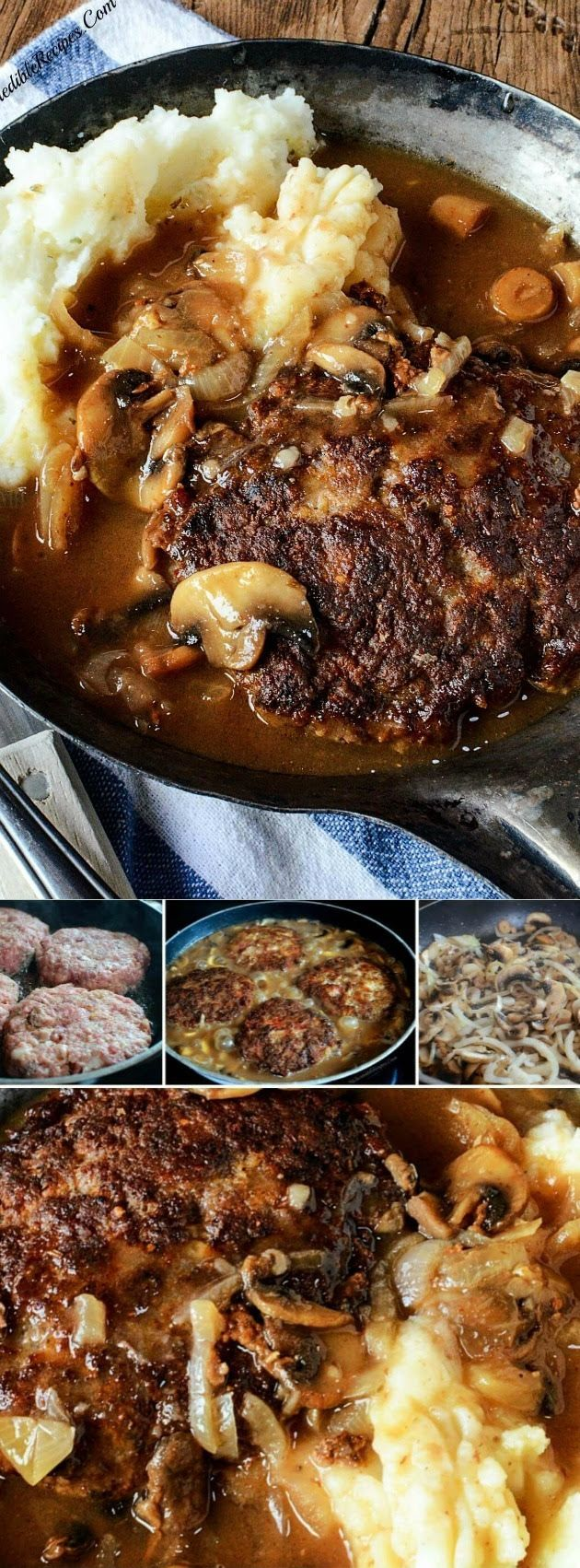 southern hamburger steaks with onion mushroom gravy recipe