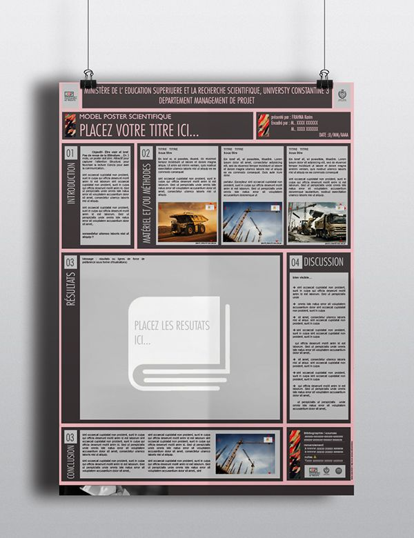 Scientific Poster Template Powerpoint.Modèle Poster Scientifique