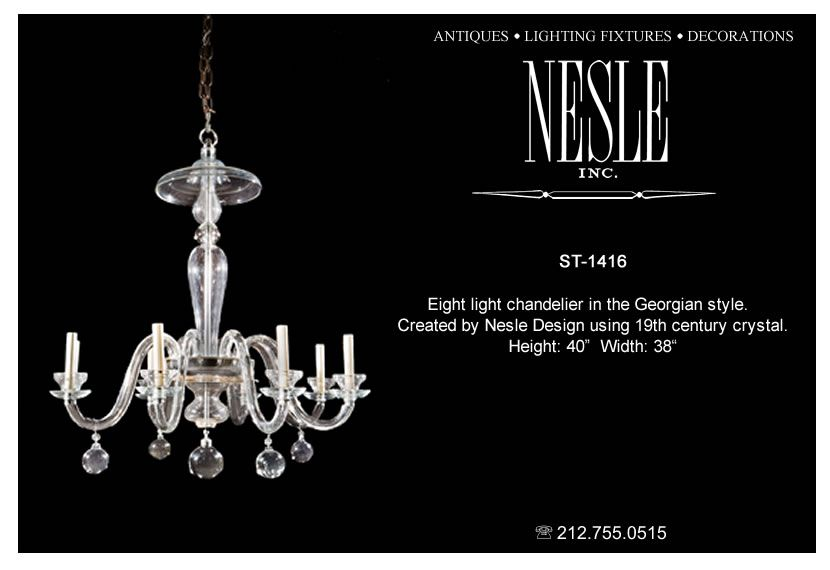 8-light in the Georgian style. Created by Nesle using 19th century crystal.  sc 1 st  Pinterest & 8-light in the Georgian style. Created by Nesle using 19th century ... azcodes.com