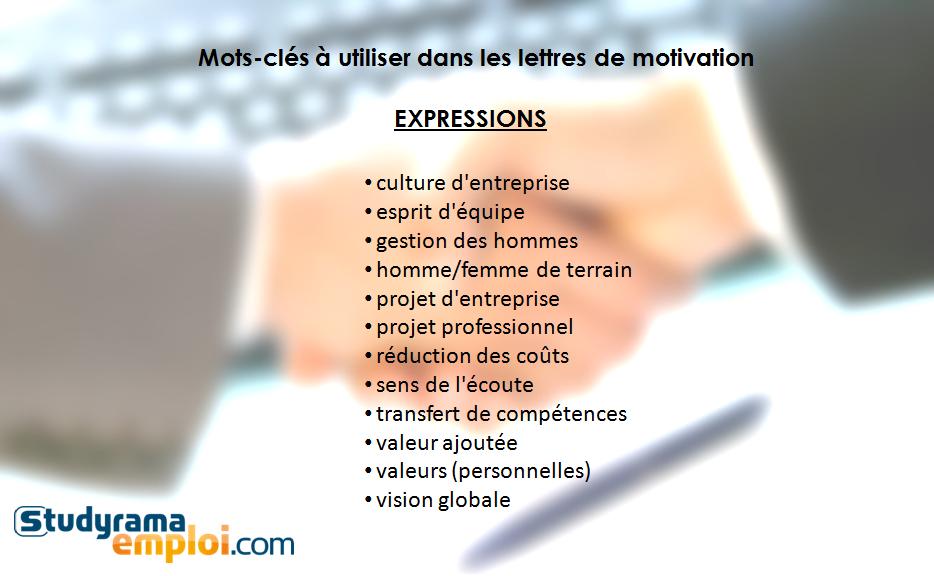 mots-cl u00e9s  u00e0 utiliser dans les lettres de motivation   expressions