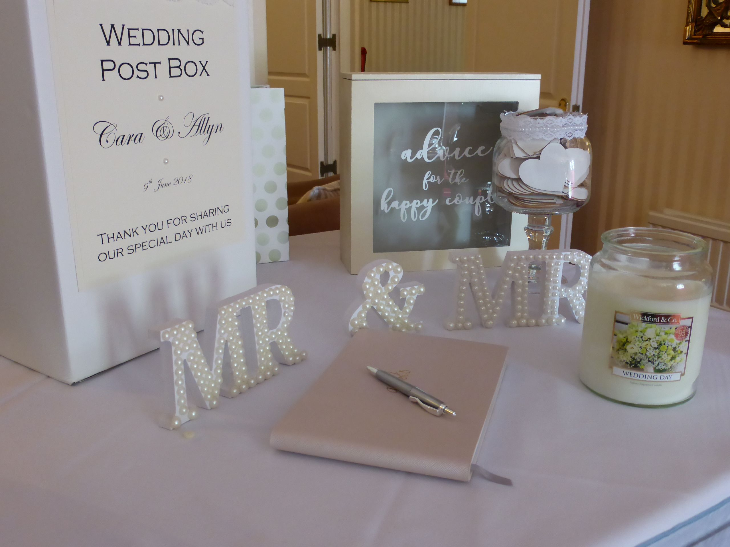 Wedding post box decorations  Wedding Post box guest book and gift table  wedding  Pinterest