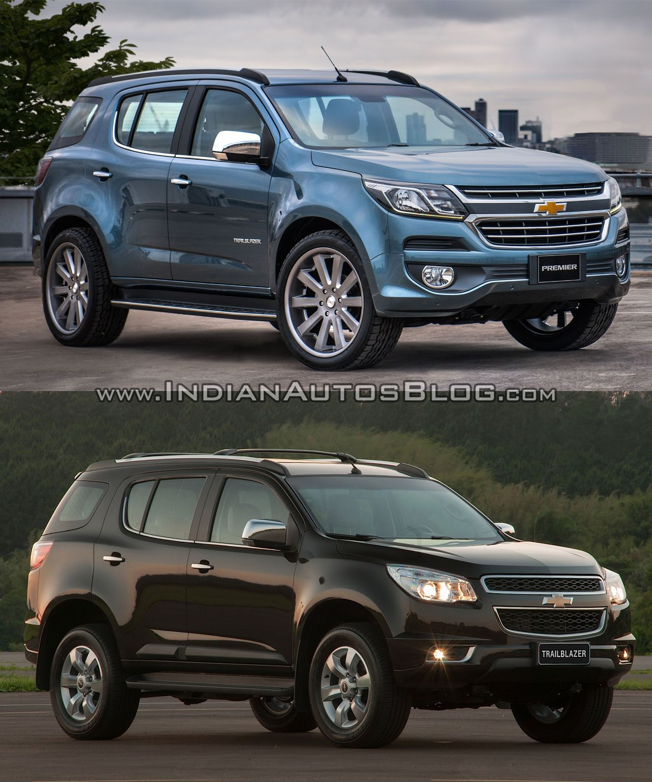 Chevrolet Trailblazer Premier (facelift) Vs Older Model