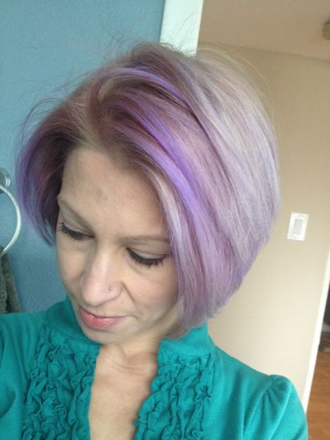 Older Woman With Purple Hair Good Weekends Can Really Drain The