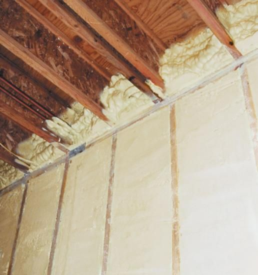 Demilec Sprayfoam Insulation Made From Recycled Plastic Water Bottles And Soy R Value 6 Inch Pole Barn Homes Spray Foam Insulation Spray Foam