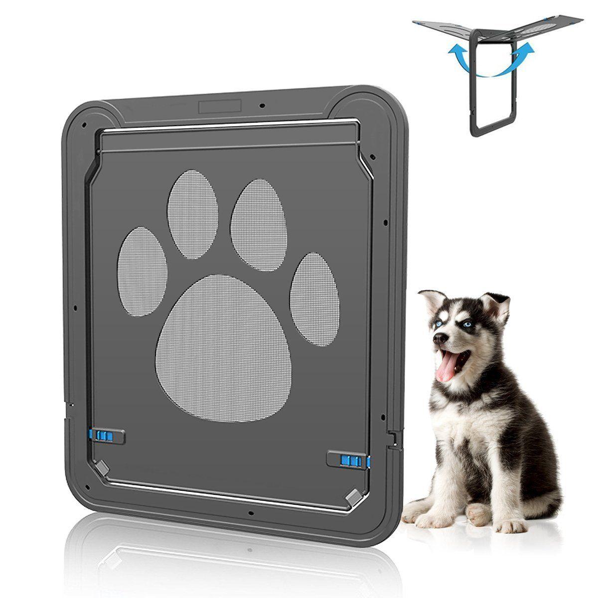 Dog Door for Sliding Door, Wrcibo Dog Screen Door Auto Pet ...