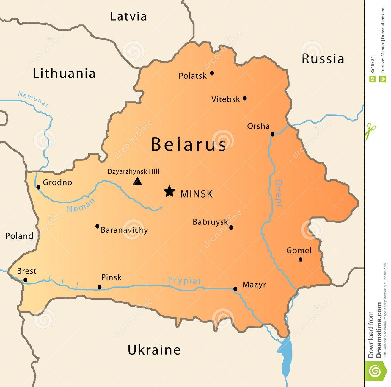 Belarus map stock vector Image of federation chernobil 8549304