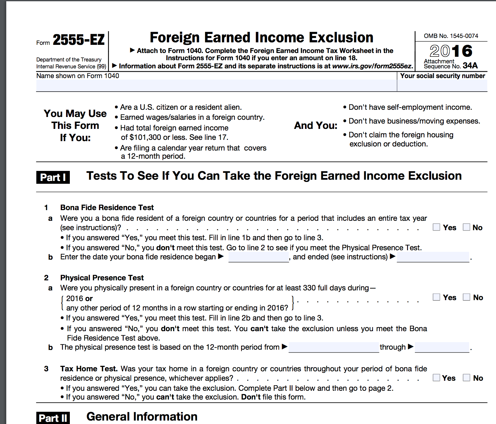 Us Tax Question Do You Have To Have A Tax Home In Another Country To Qualify For The Foreign Earned Income Tax Questions This Or That Questions Peace Index