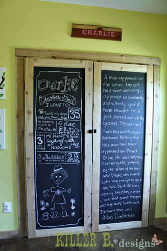 Chalkboard Closet Doors Perfect For A Kids Room Since They Tend To