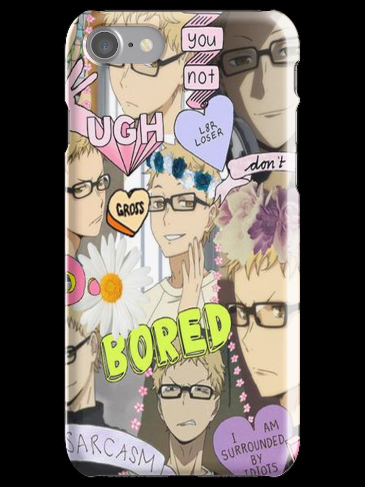 Haikyuu!! Tsukishima Kei Collage iPhone Case
