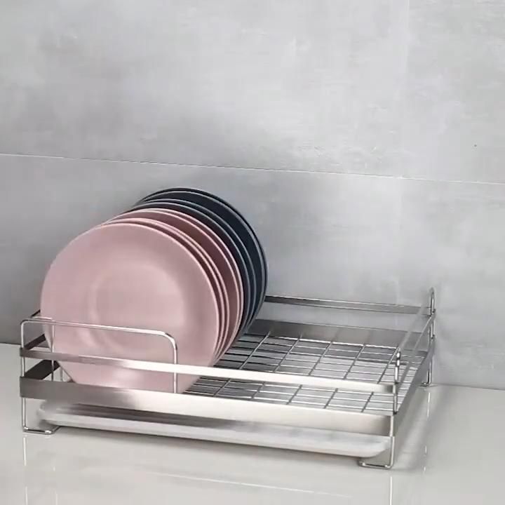 Metal Dish Drainer Kitchen Storage Cutlery Rack IKEA FINTORP Basin Washing Stand