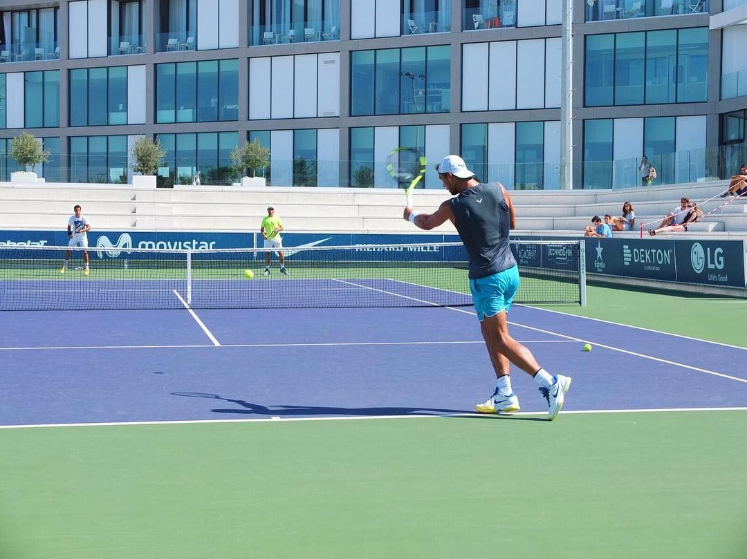 Our player #JaumeMunar trained with @RafaelNadal at the #RafaNadalAcademy!